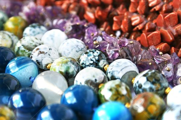 Kleurrijk natuurlijke stenen achtergrond schoonheid groene Stockfoto © ruzanna