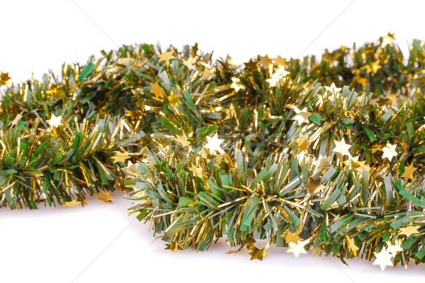Noël guirlande isolé blanche fond présents Photo stock © ruzanna