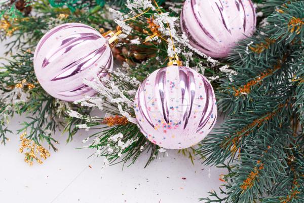 Natal decoração rosa inverno vermelho Foto stock © ruzanna
