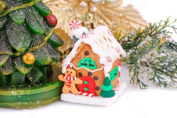 Navidad decoración vela juguete casa Foto stock © ruzanna