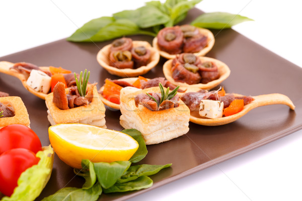 Stock photo: Anchovies in pastries