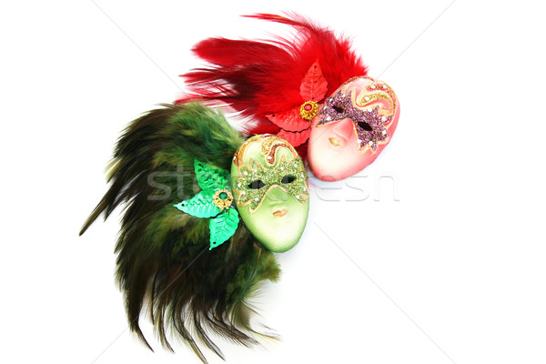 Carnaval maskers geïsoleerd witte gezicht mode Stockfoto © ruzanna
