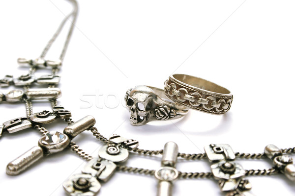 Necklace and rings Stock photo © ruzanna