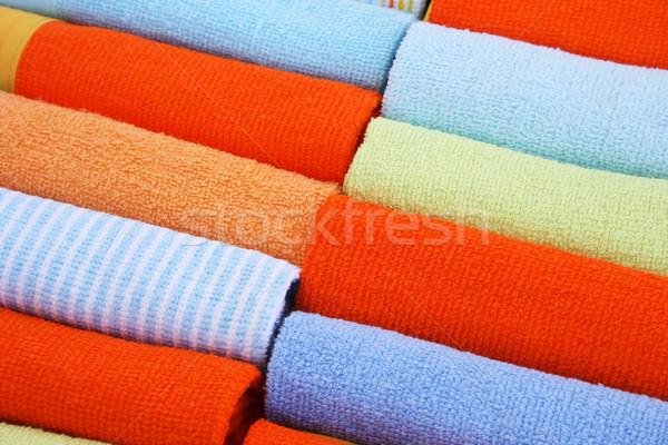 Foto stock: Toalhas · colorido · praia · abstrato · mar · saúde