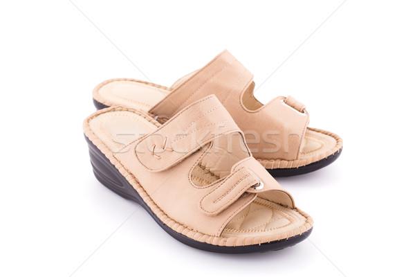 Sandały odizolowany biały moda piękna buty Zdjęcia stock © ruzanna
