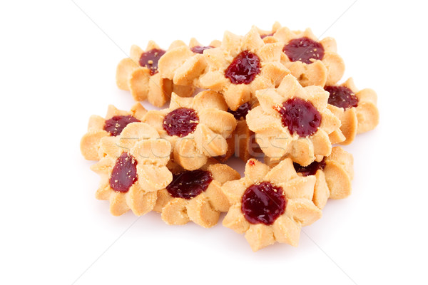 Cookies Sweet Jam изолированный белый продовольствие Сток-фото © ruzanna