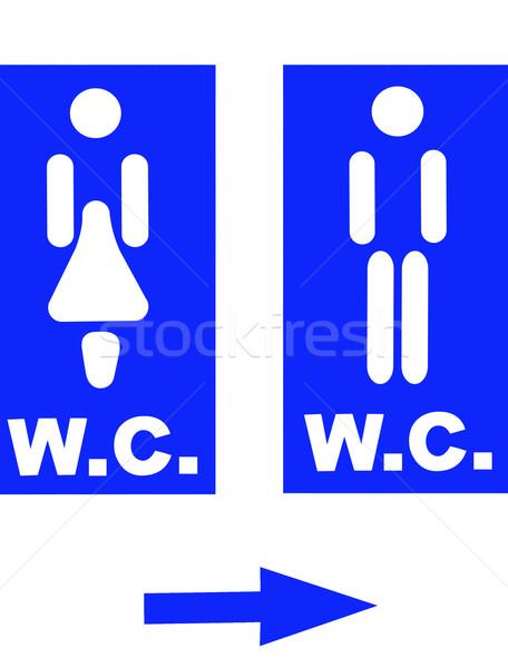 Restroom signs Stock photo © ruzanna