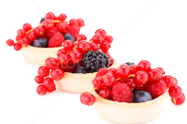 Fresh ripe berries in tartlets Stock photo © ruzanna