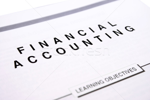 Financial accounting Stock photo © ruzanna