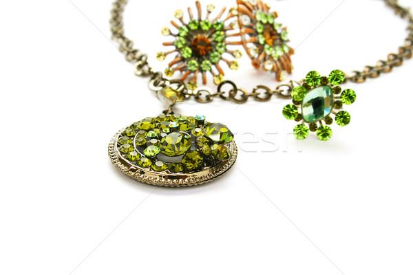 Necklace, earrings,ring Stock photo © ruzanna