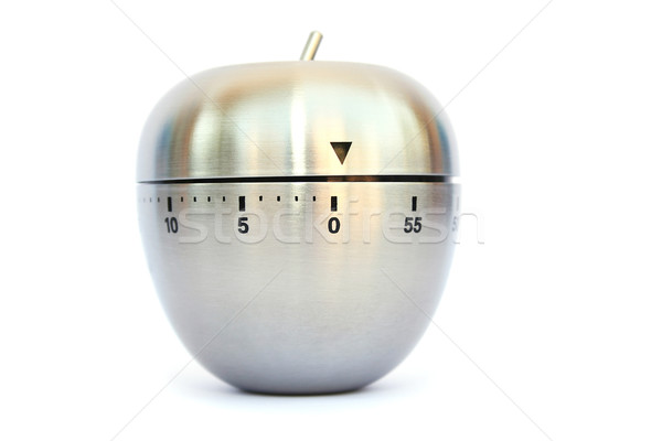 Oeuf timer gris isolé blanche temps Photo stock © ruzanna