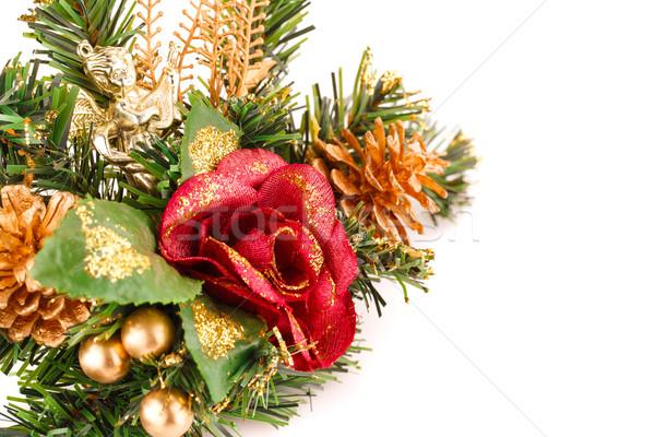 クリスマス 装飾 孤立した 白 背景 赤 ストックフォト © ruzanna