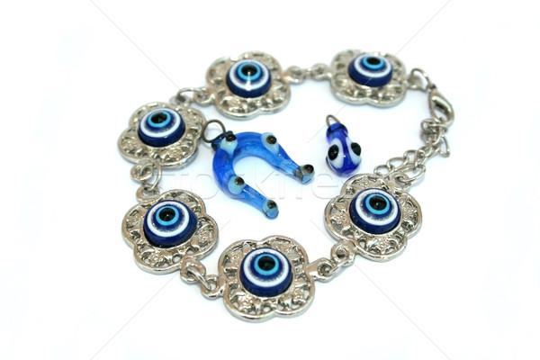 Bracelet,horse-shoe and drop medallions Stock photo © ruzanna