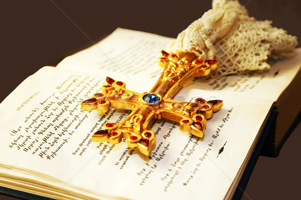 Cross on Holy Bible Stock photo © ruzanna