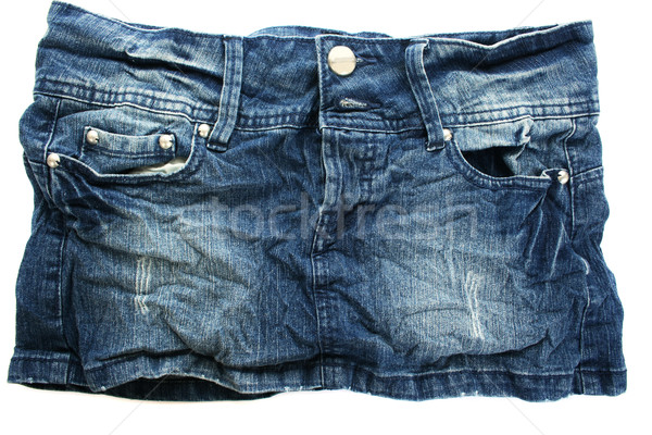 Stock photo: Black jeans skirt
