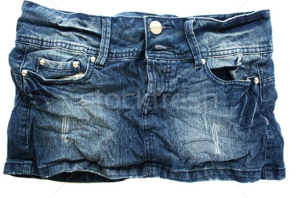 Black jeans skirt Stock photo © ruzanna