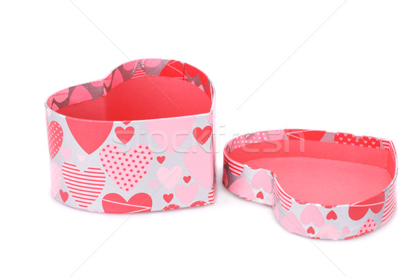 Caixa de presente corações isolado branco casamento amor Foto stock © ruzanna