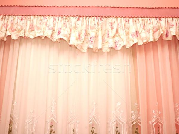 カーテン 画像 豪華な ホーム ウィンドウ ルーム ストックフォト © ruzanna