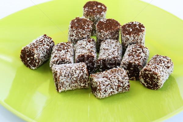 Coconut and chocolate candies Stock photo © ruzanna