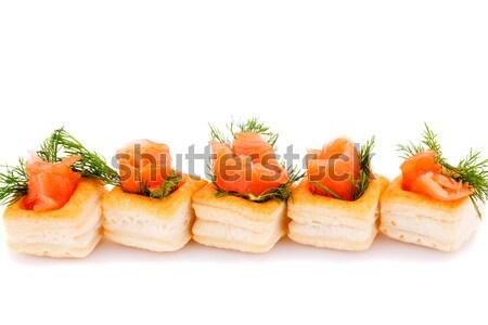 Salmón filete aislado blanco Foto stock © ruzanna