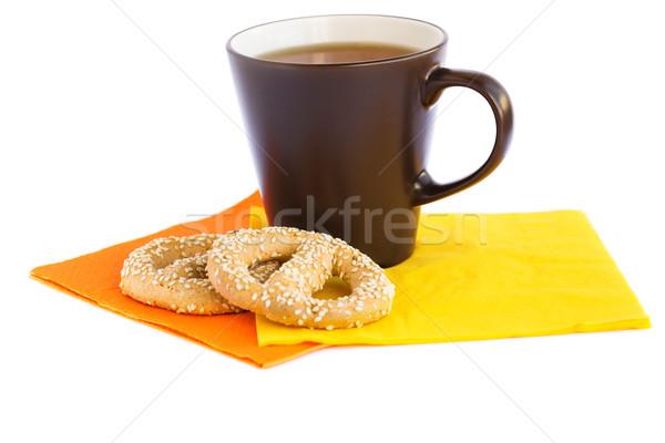 Кубок чай изолированный белый фон завтрак Сток-фото © ruzanna