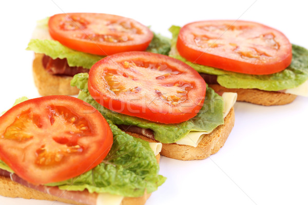 サンドイッチ ベーコン レタス トマト 葉 緑 ストックフォト © ruzanna