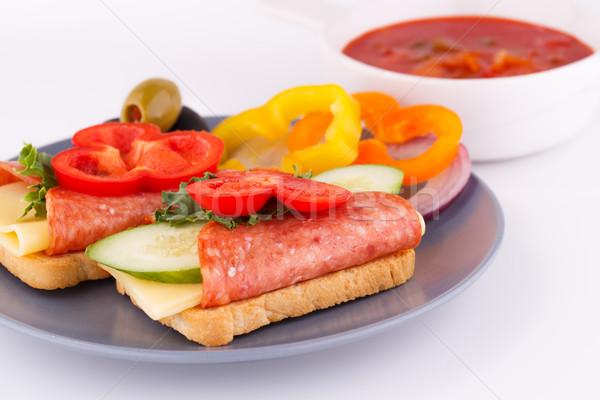 Sandwiches and sauce Stock photo © ruzanna