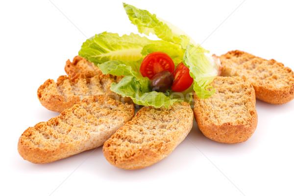 Zöldségek izolált fehér levél zöld kenyér Stock fotó © ruzanna