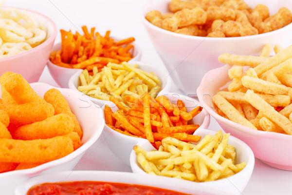 Batata milho trigo batatas fritas vermelho Foto stock © ruzanna
