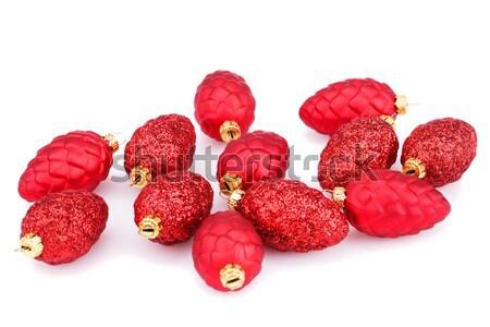 Karácsony piros izolált fehér tél arany Stock fotó © ruzanna