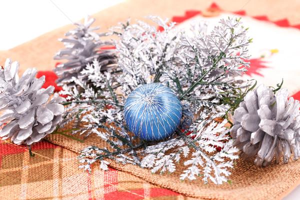 Navidad decoración colorido lienzo fiesta verde Foto stock © ruzanna