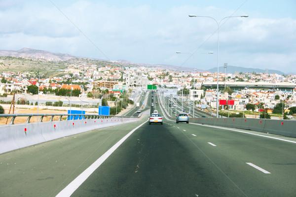 дороги Кипр пространстве зеленый Церкви красный Сток-фото © ruzanna