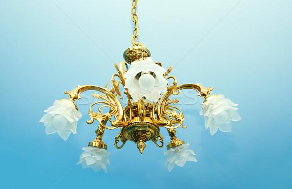 Lampadario lusso impiccagione luce bellezza stanza Foto d'archivio © ruzanna