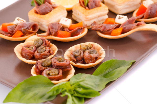 Anchovies in pastries Stock photo © ruzanna