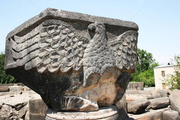 Águia estátua catedral ruínas Armênia unesco Foto stock © ruzanna