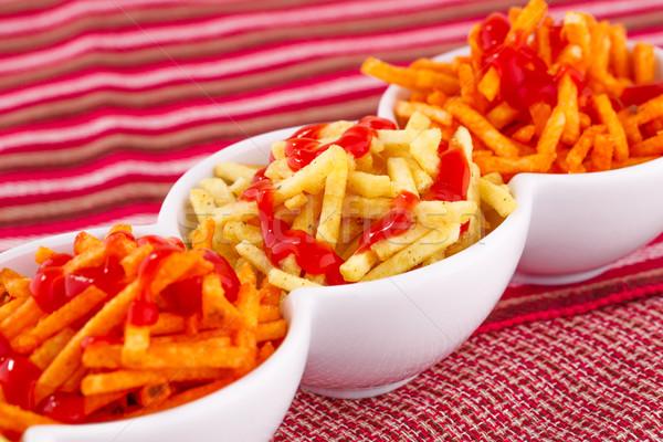 Ketchup isolato colorato tovaglia sfondo Foto d'archivio © ruzanna