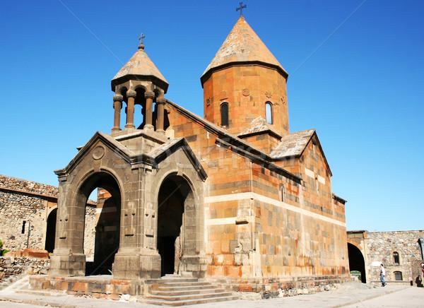 Kolostor Örményország égbolt fal templom kő Stock fotó © ruzanna