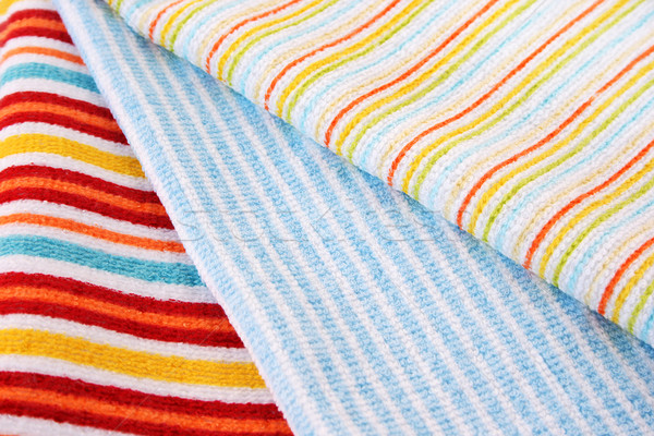 Foto stock: Três · toalhas · colorido · abstrato · luz · saúde