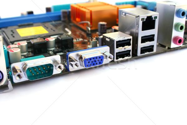 Placa-mãe computador muitos eletrônico azul indústria Foto stock © ruzanna