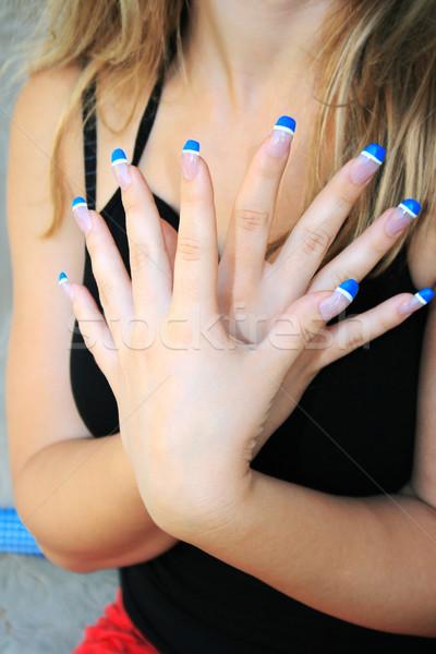 Nő kezek szög művészet kéz absztrakt Stock fotó © ruzanna