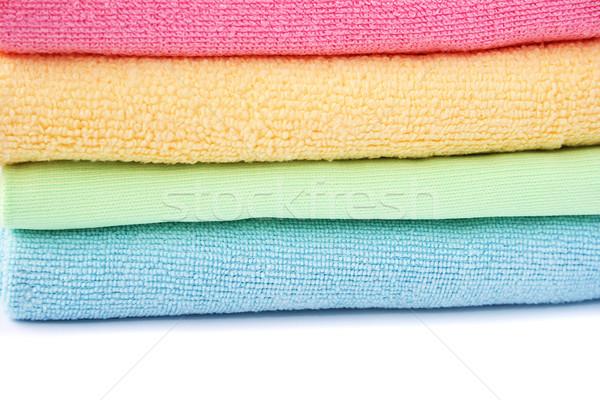 Kleurrijk kleding witte textuur mode achtergrond Stockfoto © ruzanna