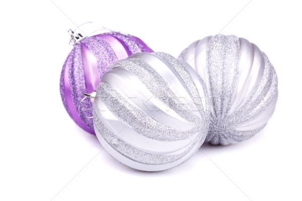 Navidad aislado blanco pelota oro Foto stock © ruzanna