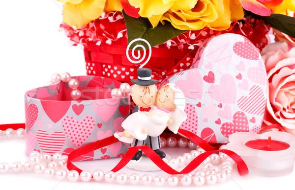 свадьба день красочный роз невеста свечу Сток-фото © ruzanna