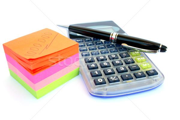 Calculator, pen and paper Stock photo © ruzanna