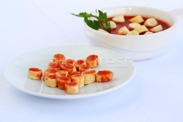 Salsa gris cocina pan placa estudio Foto stock © ruzanna
