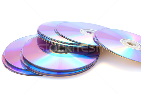 DVDs on white Stock photo © ruzanna