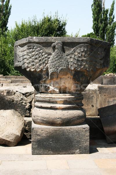 Eagle statue in Zvartnots Cathedral ruins Stock photo © ruzanna