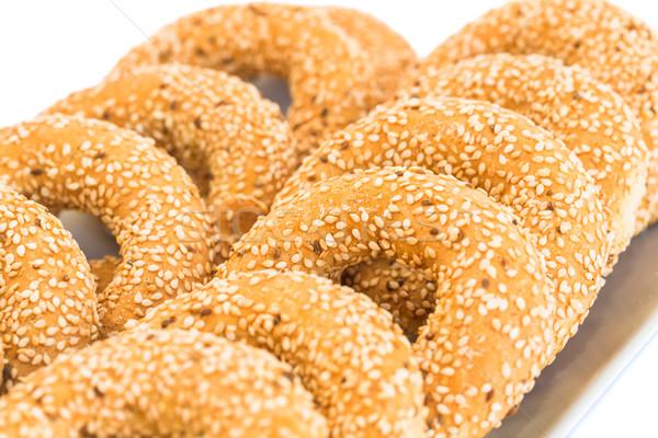 Sesamo texture alimentare grano colazione Foto d'archivio © ruzanna