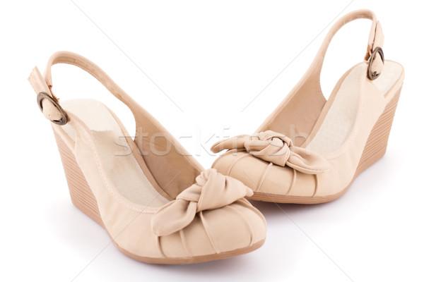 Beige shoes Stock photo © ruzanna