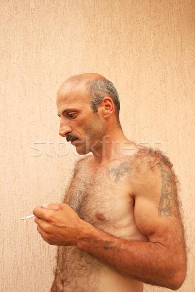 Stock photo: Smoking man